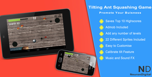 Tilting Ant Squashing Game - Promote Any Business - CodeCanyon Item for Sale