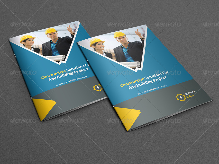 Construction Business Brochure Template Pages By OWPictures - Business brochures templates