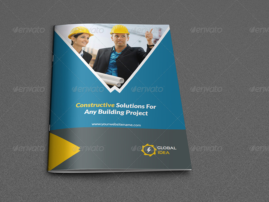 Construction Business Brochure Template 8 Pages by OWPictures – Company Brochure Templates