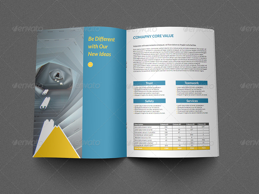Construction Business Brochure Template Pages By OWPictures - Business brochure templates