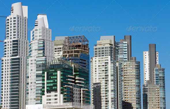 Skyscrapers in Buenos Aires  - Stock Photo - Images