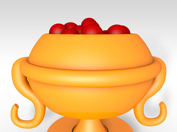 Cup with Fruits - 3DOcean Item for Sale