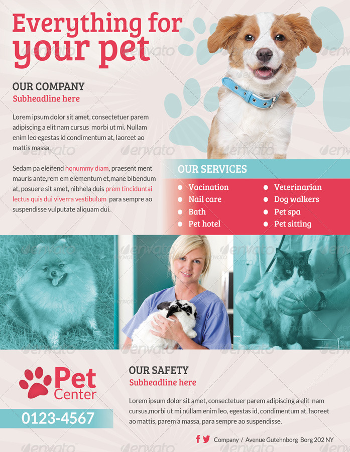 Pet Services Flyer Print Ad By Ingridk Graphicriver