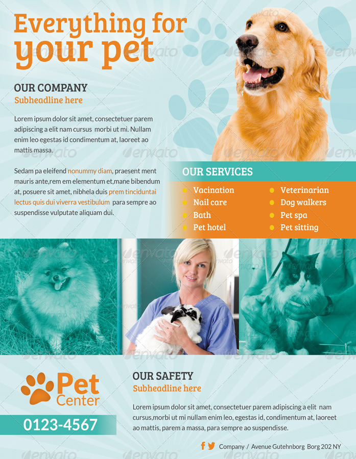 pet services flyer   print ad by ingridk