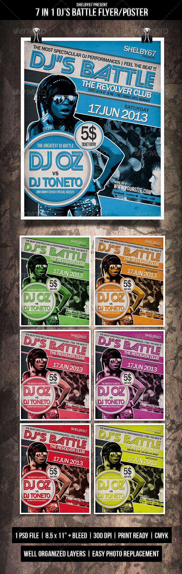 DJ Battle Flyer / Poster - Events Flyers
