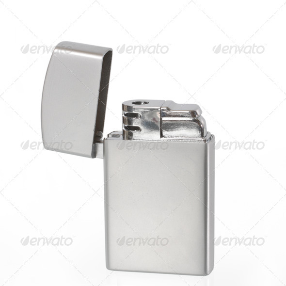 Lighter isolated on white background - Stock Photo - Images
