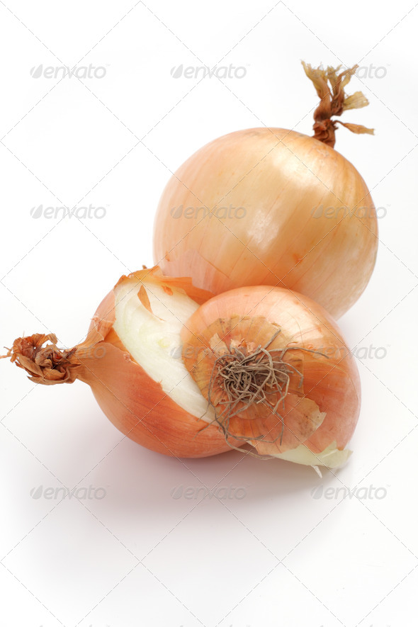 onions isolated on a white background - Stock Photo - Images