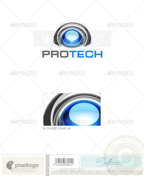 Technology Logo 3D-760 - 3d Abstract