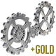 Realistic Cogwheels - Chrome/Gold - GraphicRiver Item for Sale