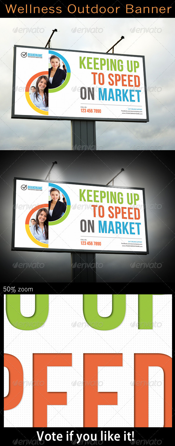 Corporate Outdoor Banner - Signage Print Templates