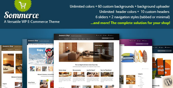 Sommerce Shop - A Versatile E-commerce Theme - WooCommerce eCommerce