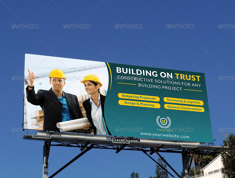 Construction Business Billboard Template By Owpictures