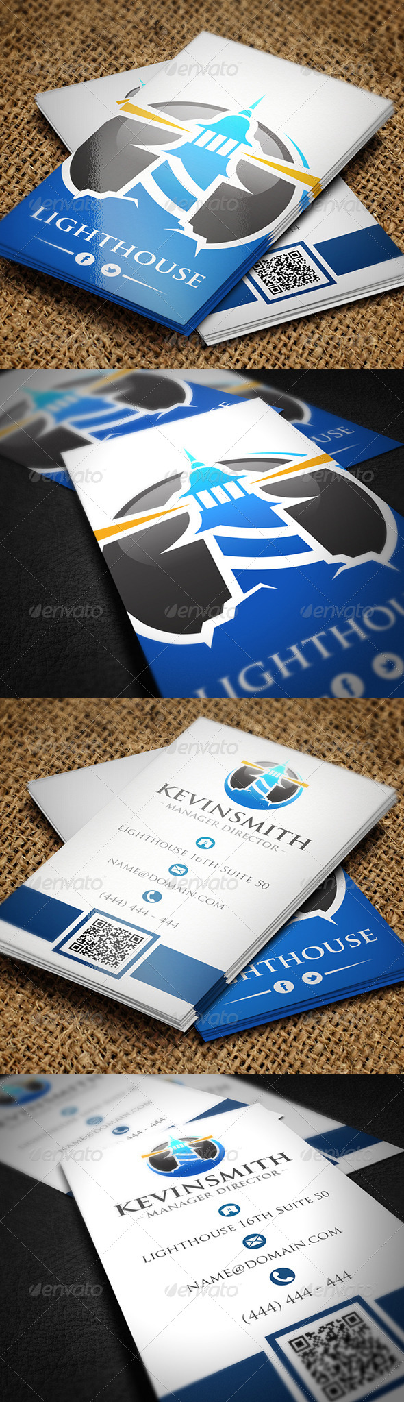 Lighthouse business card by bosstwinsmusic graphicriver lighthouse business card colourmoves