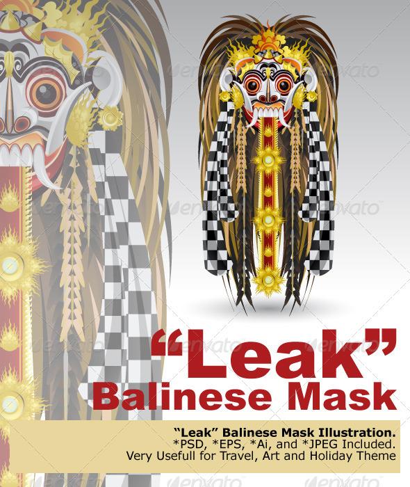 Leak Traditional Bali Demon Mask - Characters Vectors