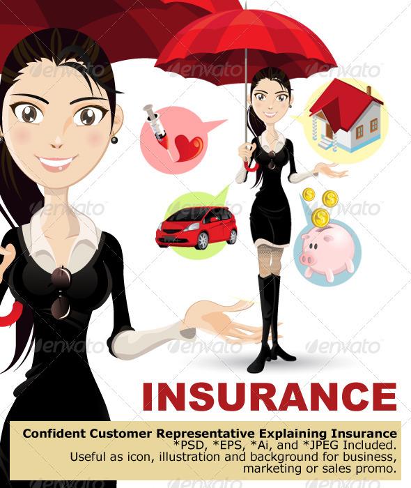 Confident Customer Service Representative Explaini - Characters Vectors
