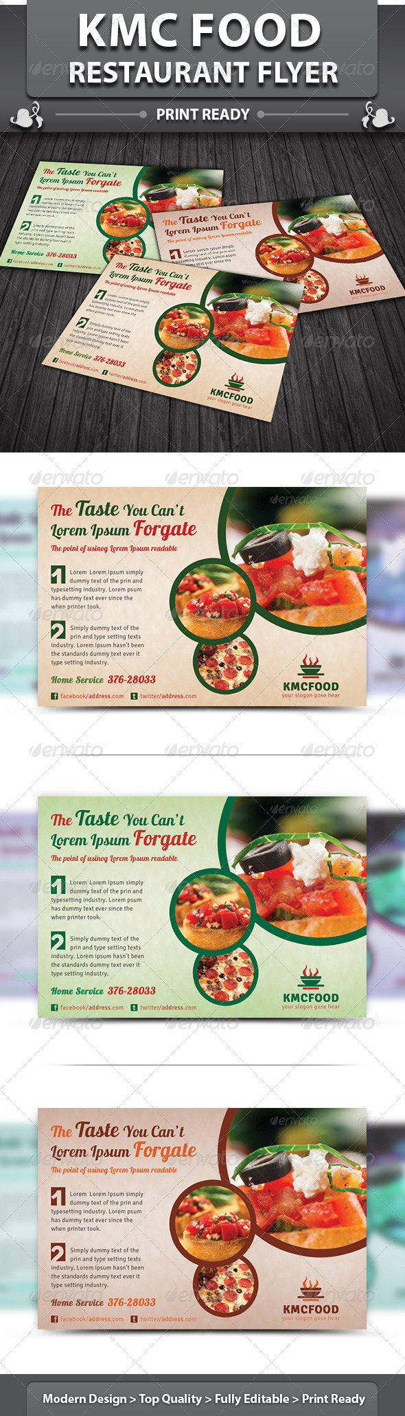 Restaurant Business Flyer | Volume 14 - Restaurant Flyers