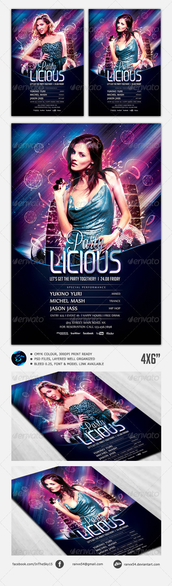 Party Licious Flyer Template - Flyers Print Templates