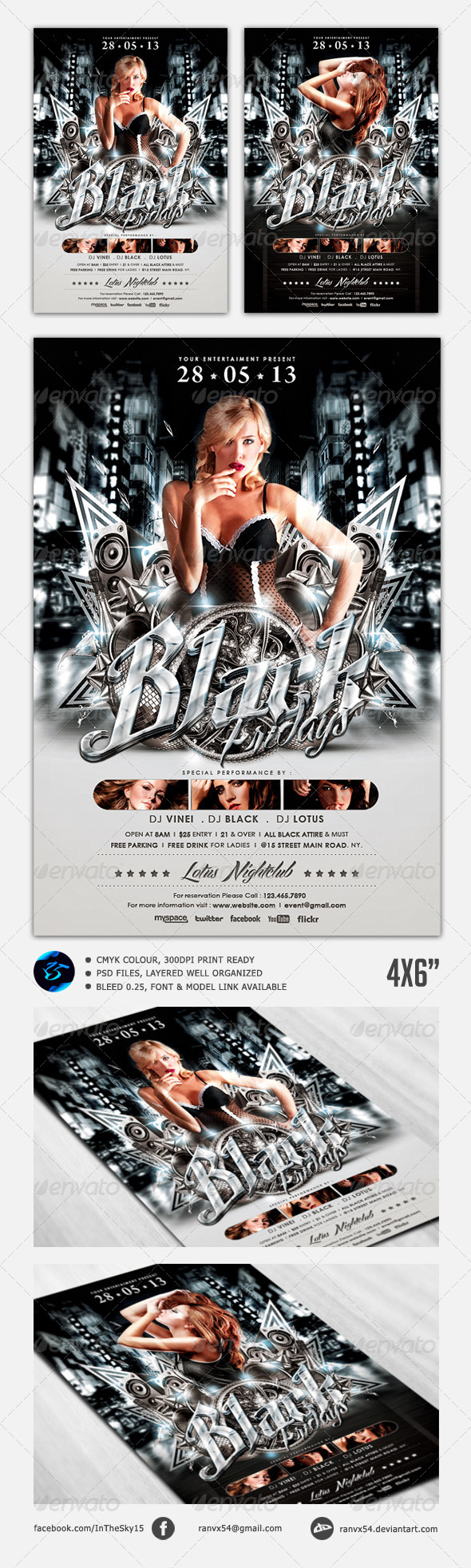 Black Fridays Flyer Template - Clubs & Parties Events