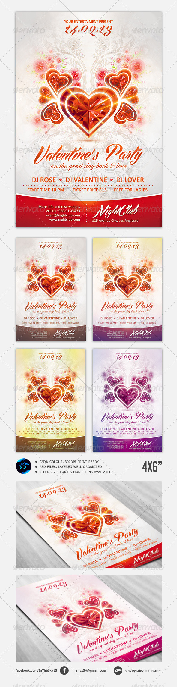 Valentine's Flyer Template - Events Flyers