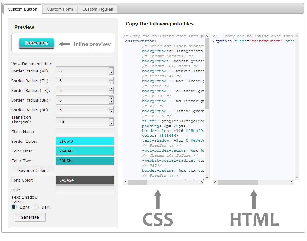 CSS3 Ultimate UI Generator