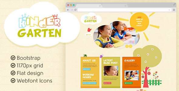 Kindergarten PSD Template