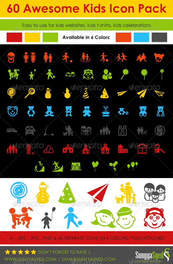60 Kids Icon Pack - Icons