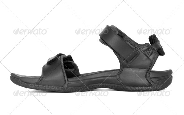 Black Sandal - Stock Photo - Images