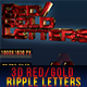 3D Red/Gold Ripple Letters - GraphicRiver Item for Sale