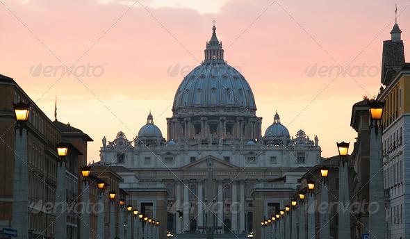 Saint Peter Basilica, Vatican. - Stock Photo - Images