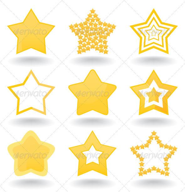 Icon a star - Web Elements Vectors