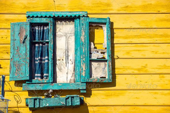 Window detail in La Boca - Stock Photo - Images