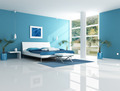 contemporary blue bedroom - PhotoDune Item for Sale