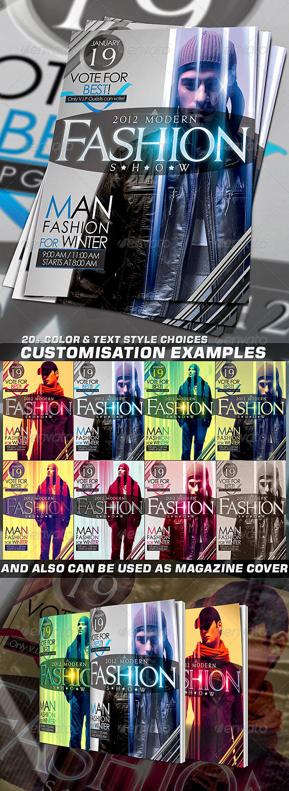 Fashion Flyer or Magazine Cover Template - Clubs & Parties Events