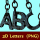 Chained 3D Letters - GraphicRiver Item for Sale