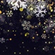 Christmas Snowflakes Dark Background with Glitter Particles  - VideoHive Item for Sale