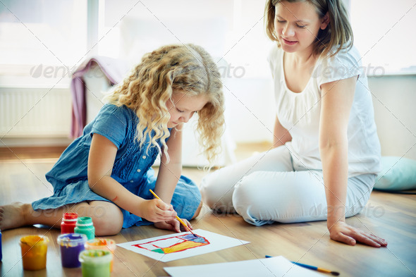 Painting together - Stock Photo - Images