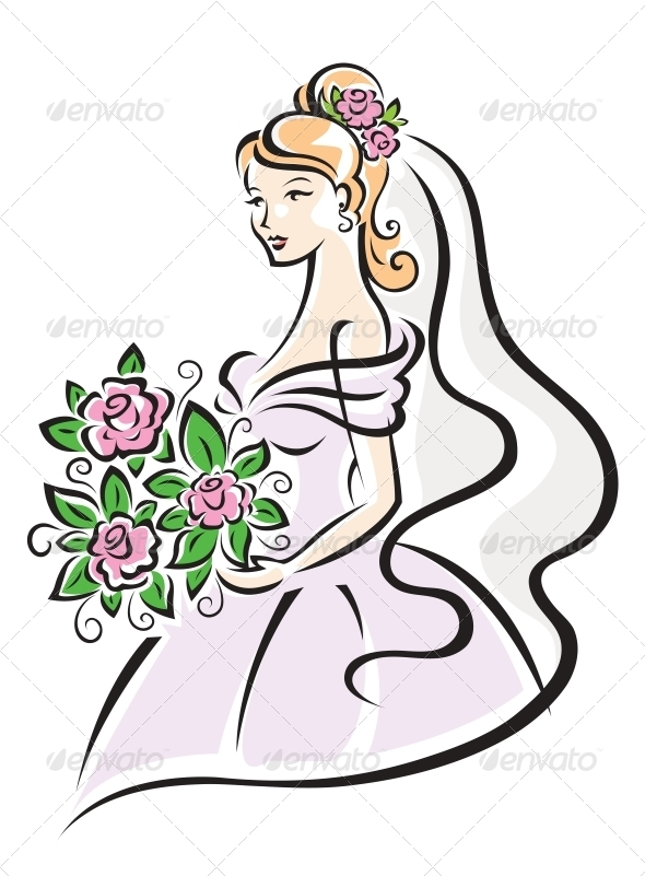 Bride with Flowers - Weddings Seasons/Holidays