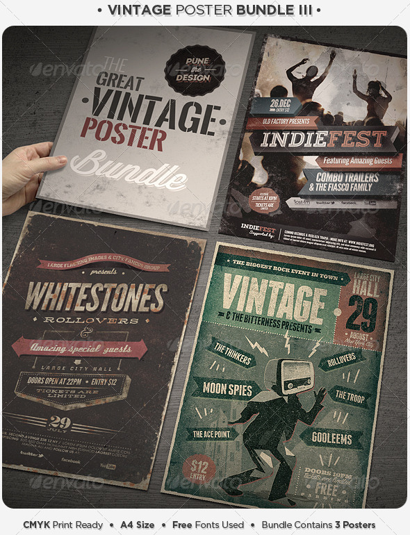 Vintage Poster Bundle III - Concerts Events