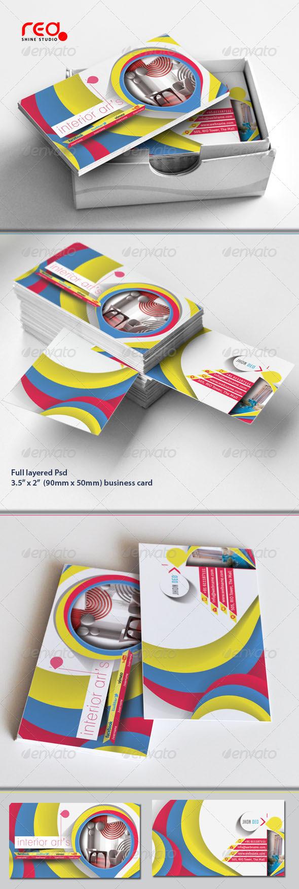 Interior design business card graphics designs templates