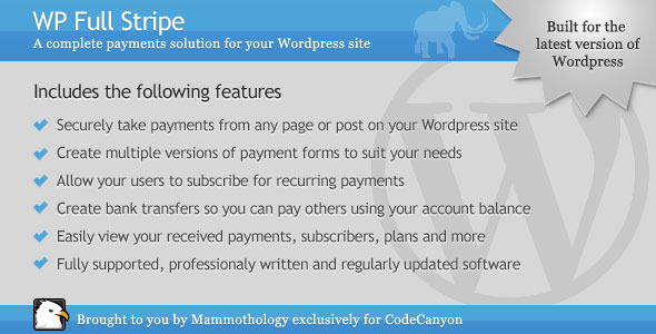WP Full Stripe - Subscription and payment plugin for WordPress - CodeCanyon Item for Sale