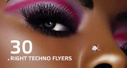 30 Right Techno Flyers
