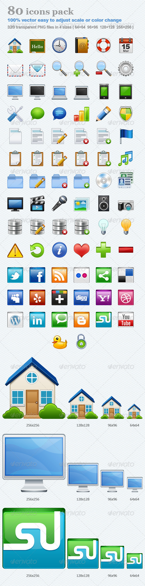 80 icons pack - Web Icons