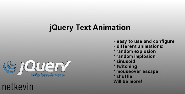 Download jQuery Text Animation nulled version