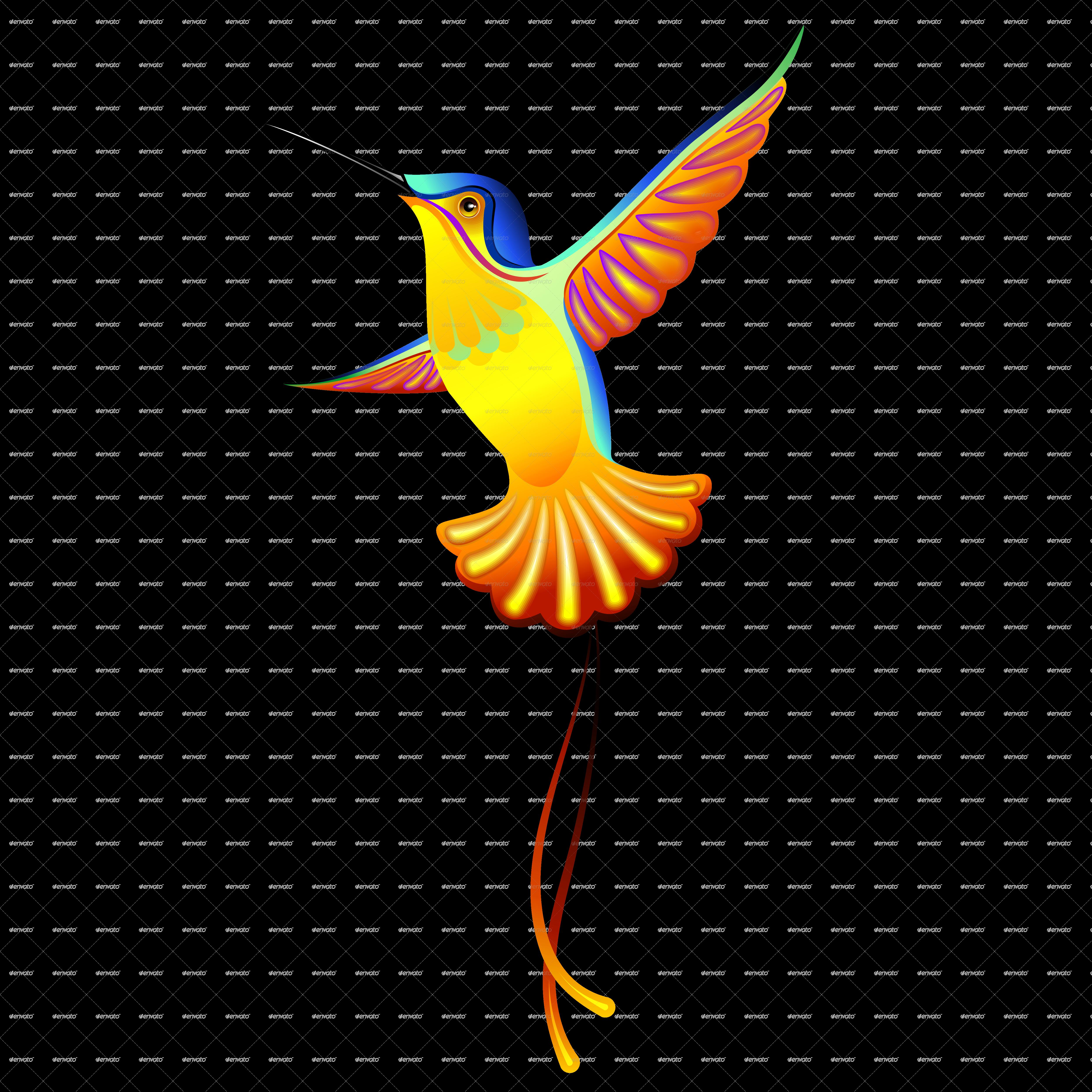 Hummingbird Exotic Des...