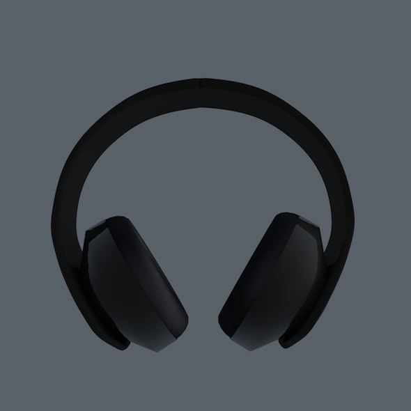 Dark Headphones - 3DOcean Item for Sale