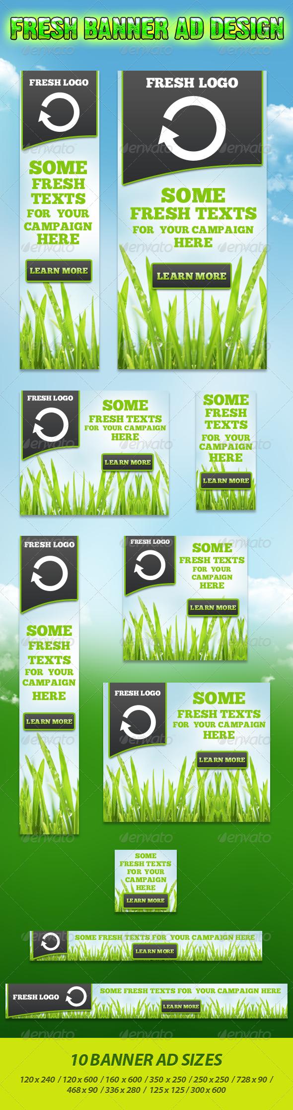 Fresh Banner Campaign Set - Banners & Ads Web Elements