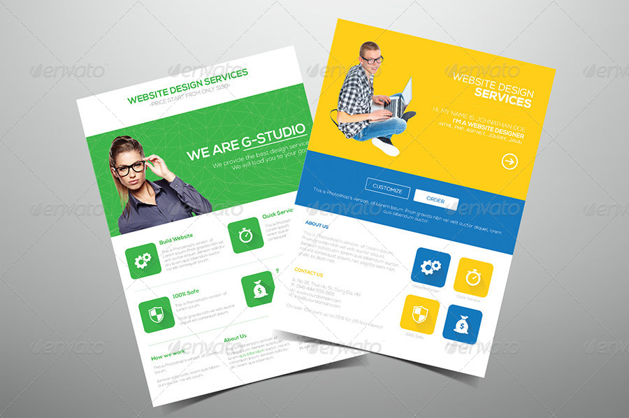 Flat Website Design Flyer by hoanggiang12 | GraphicRiver