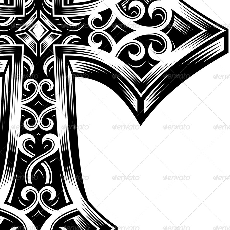 Ornate Celtic Cross Vector by vectorfreak | GraphicRiver