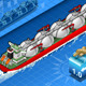Isometric Gas Tanker Ship in Navigation Rear View - GraphicRiver Item for Sale