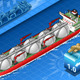 Isometric Gas Tanker Ship in Navigation Front View - GraphicRiver Item for Sale